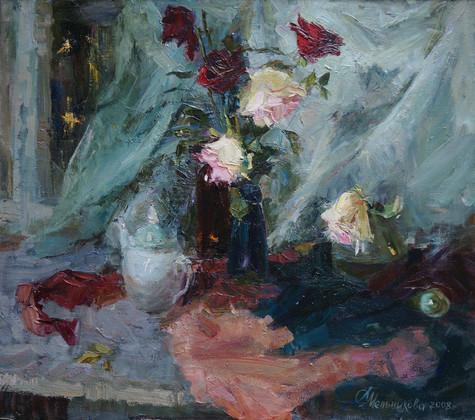 Fall in love roses at  night