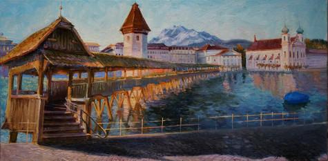 Golden sun in Lucerne...