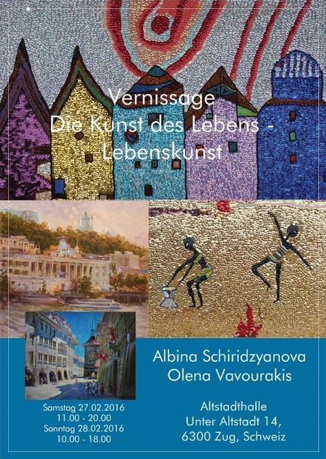 """ART  Vernissage """" Die Kunst des Lebens - Lebenskunst """"."""