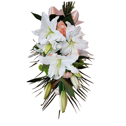 Lily and Carnation Tied Sheaf
