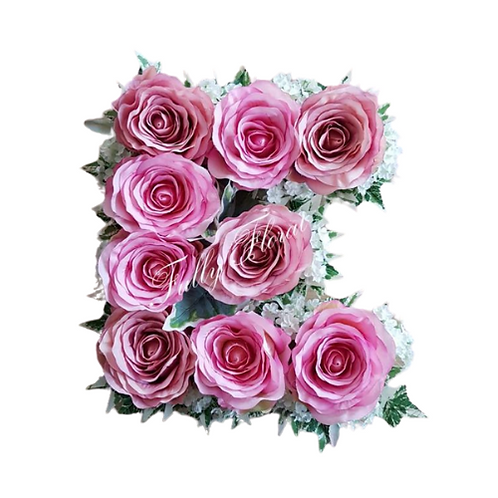 Silk Flower Letter