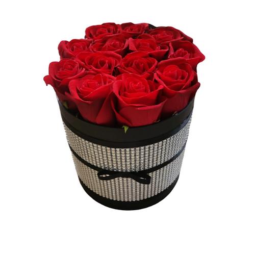 Devil Silk Flower Hat Box