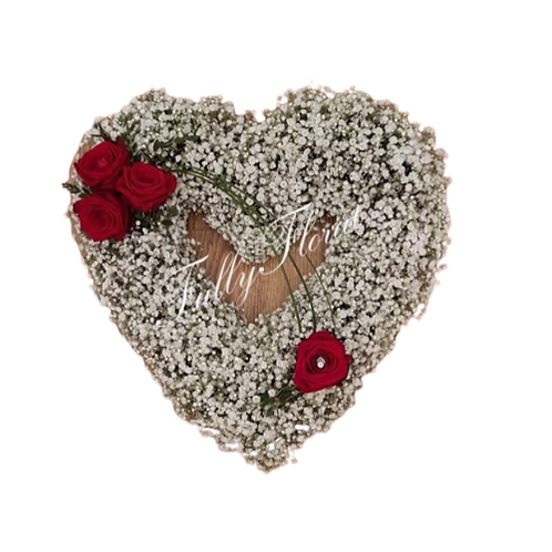 Open Heart Gyp Wreath