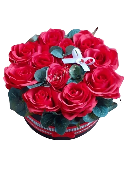 Preserved Rose and foliage Box