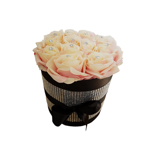 Blush Silk Flower Hat Box