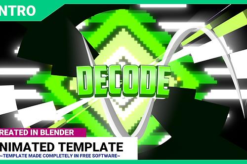 Professionally animated blender intro templates outro templates blender 25d intro template decode broadcast license maxwellsz