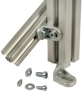 Accesorios para estaciones de trabajo perfil estructural de aluminio compatible Bosch