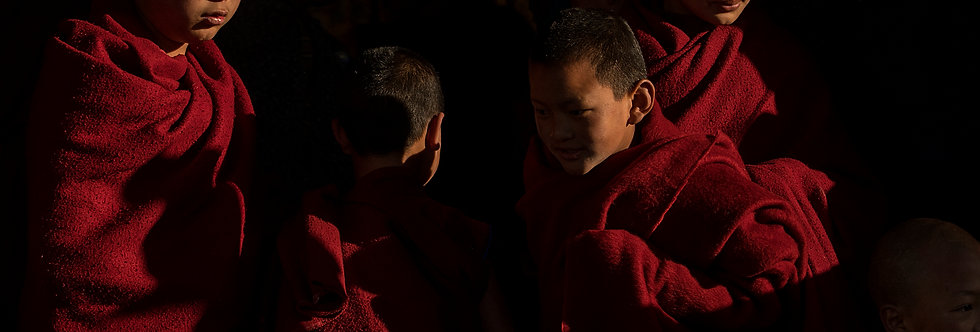 "Young Monks, ""Tawang Monastery"", Tawang, India. November, 2017."
