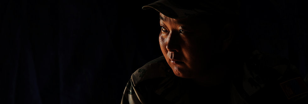 Mongolian Soldier, Central Mongolia, Mongolia. August, 2012.