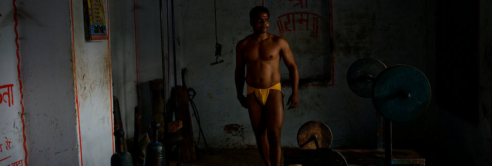 Kushti Wrestler, Varanasi, India. February 2013.