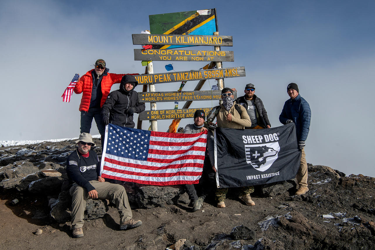 KCC team members reach Uhuru Peak, the summit of Mount Kilimanjaro with an elevation of 19,342 ft at 8:15 am on August 10, 2021. Twelve team members set out to summit the mountain and nine achieved it.