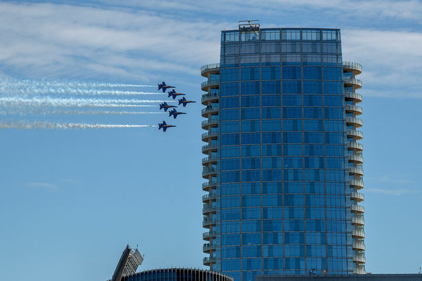 Blue Angels Dallas Flyover Salute May 6, 2020.