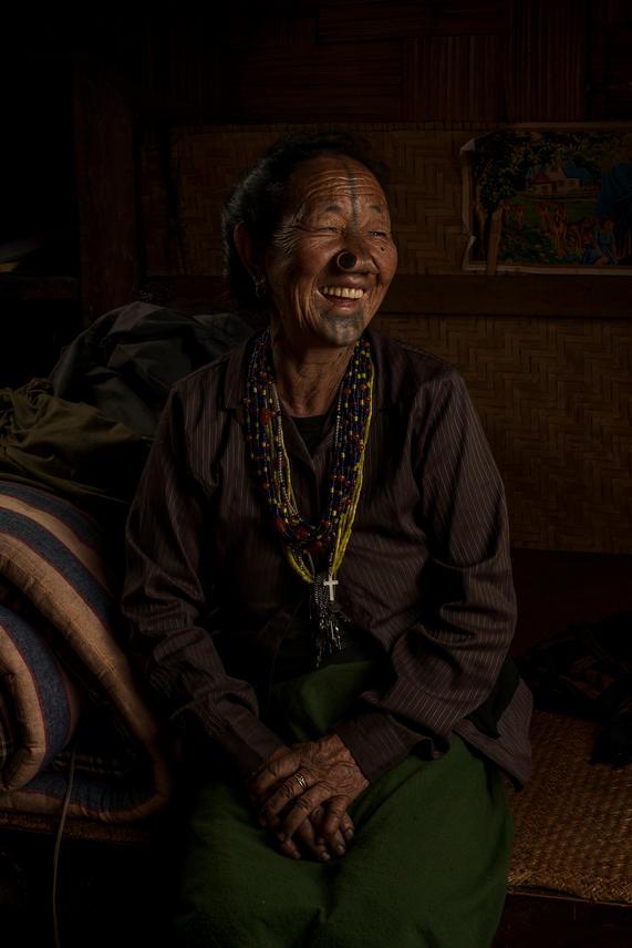 Michi Yaji, 75-80. She lives in Hong Village, Ziro, India.