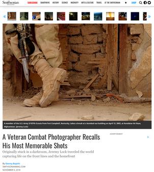 SMITHSONIAN MAGAZINE: A Veteran Combat Photographer Recalls His Most Memorable Shots