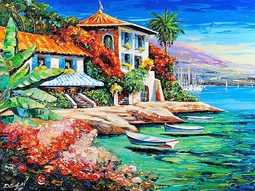 """Limited Edition on canvas """"La Côte d'Azur"""""""