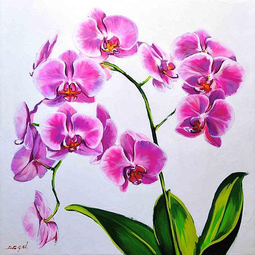 "Limited Edition on canvas ""L'Orchidée"""