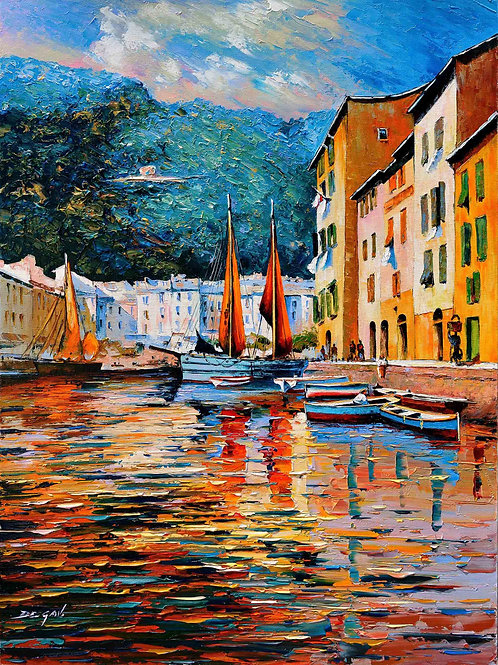 "Limited Edition on canvas ""Portofino"""