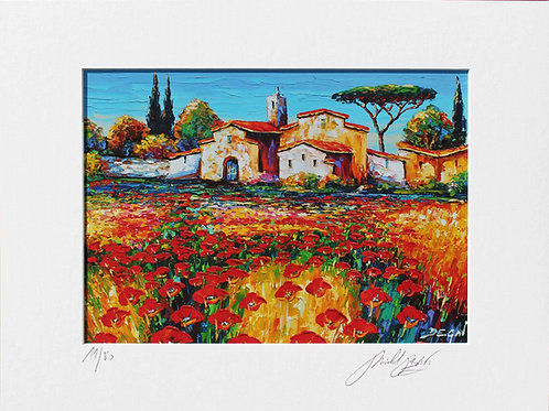 """Limited Edition """"Coquelicots en Provence"""""""