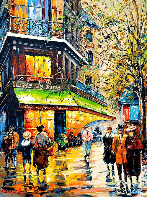 "Limited Edition on canvas ""Café de Paris"""