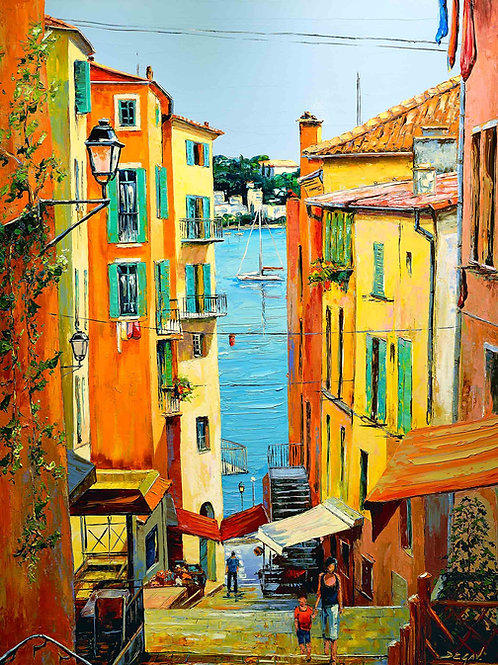 "Limited Edition on canvas ""Villefranche sur Mer II"""