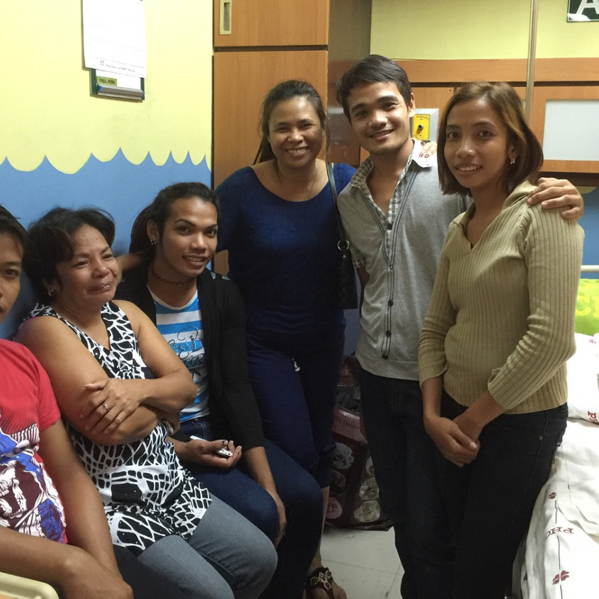 Family celebrating to experience the miracle through the life of Angelina. The family's lives have been transformed through follow up and guidance.
