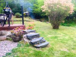 slate steps to private patio glencoe