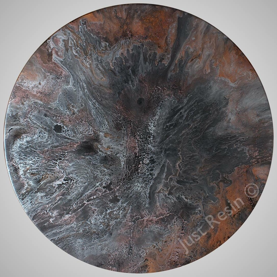 DARK LIGHT - Resin Art, Round