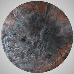 DARK LIGHT - Resin Art, Round