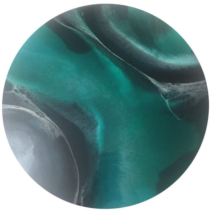 Emerald - Resin Art, Round