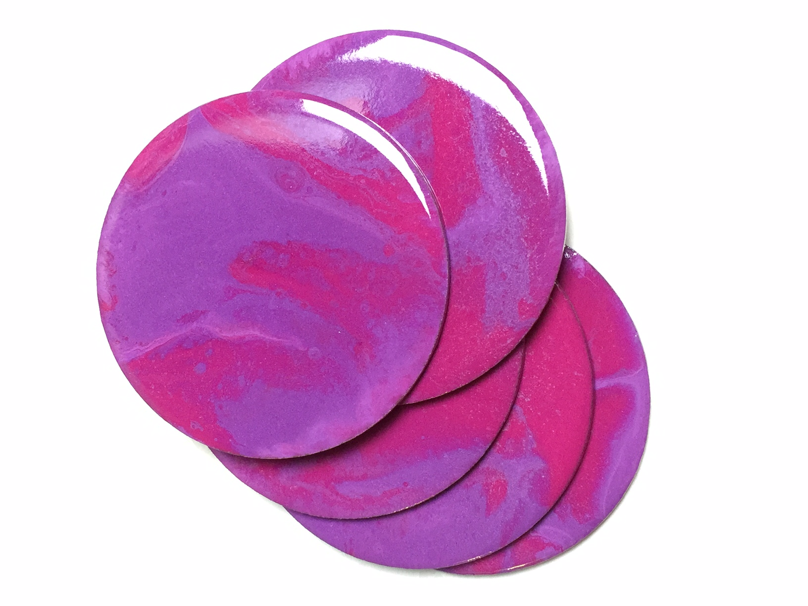 Purple & Magenta Coasters- Resin Art