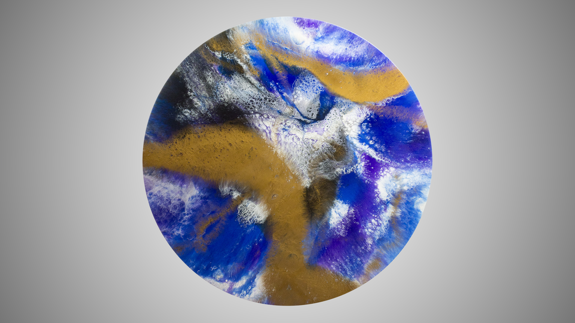Abyss - Resin Art, Round