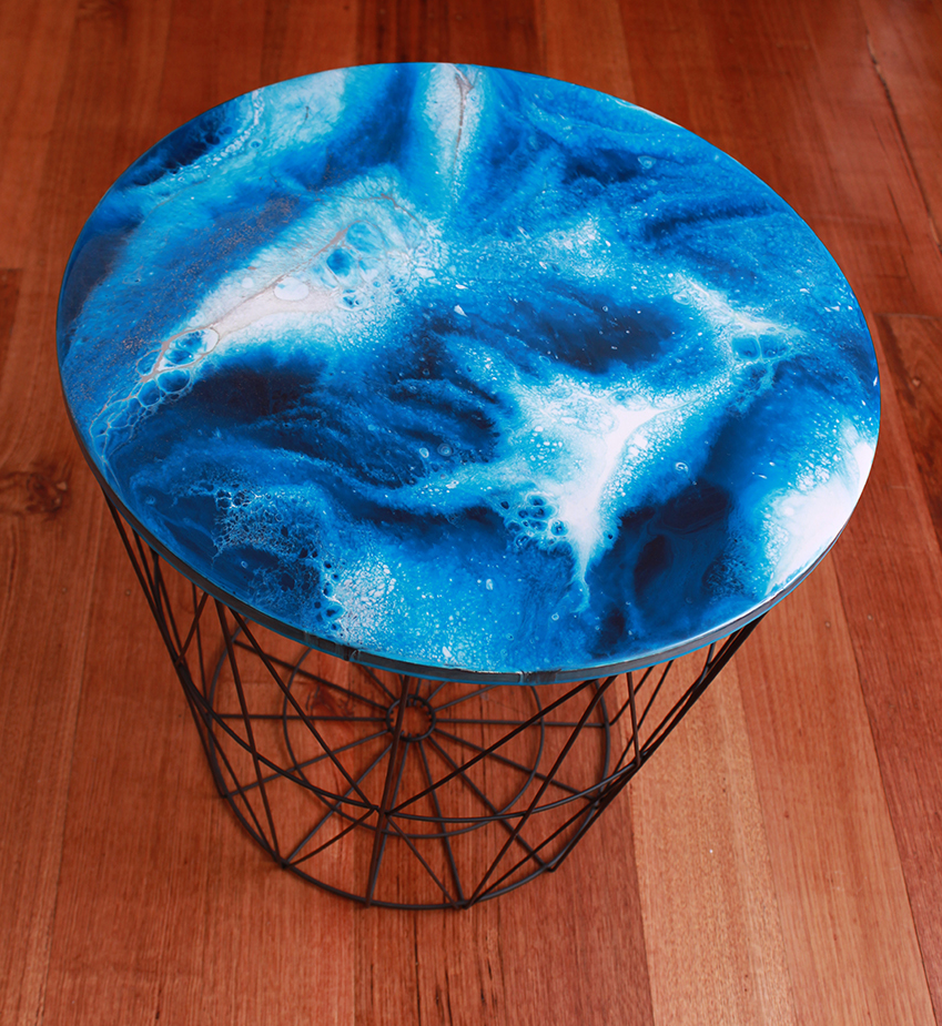 Resin Art, Side Table