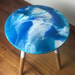 Side Table - Resin Art