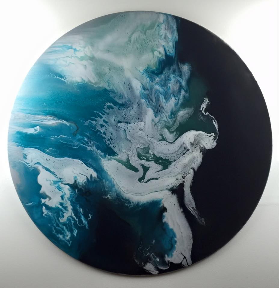 Medusa - Resin Art, Round