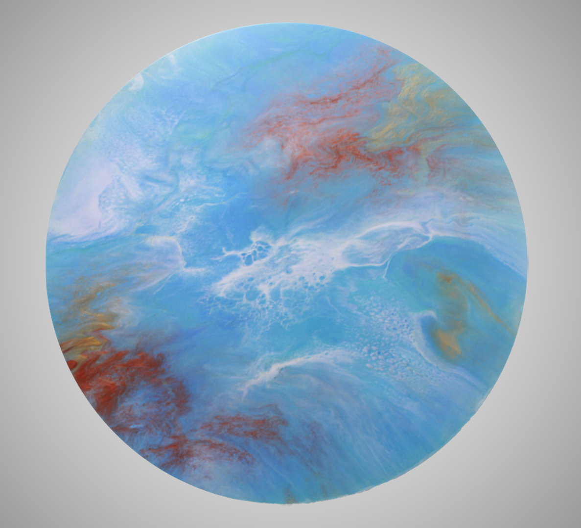 Royal Tides - Resin Art, Round