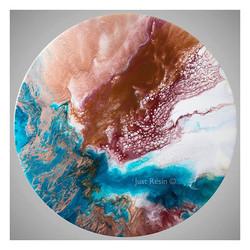 Pilbara - Resin Art - Round