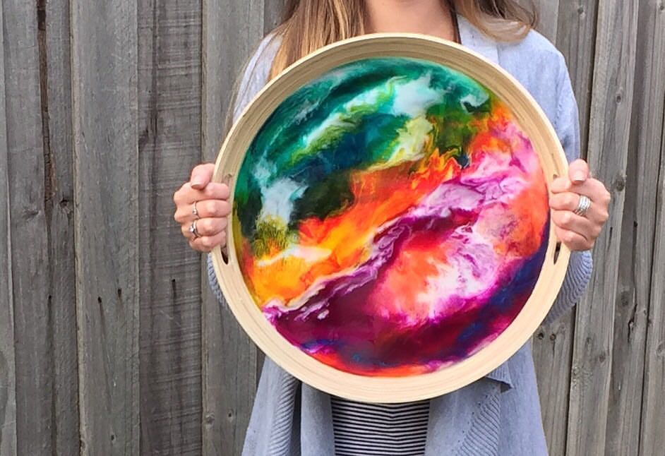 Serving Tray - Resin Art