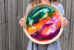 Serving Tray - Resin Art