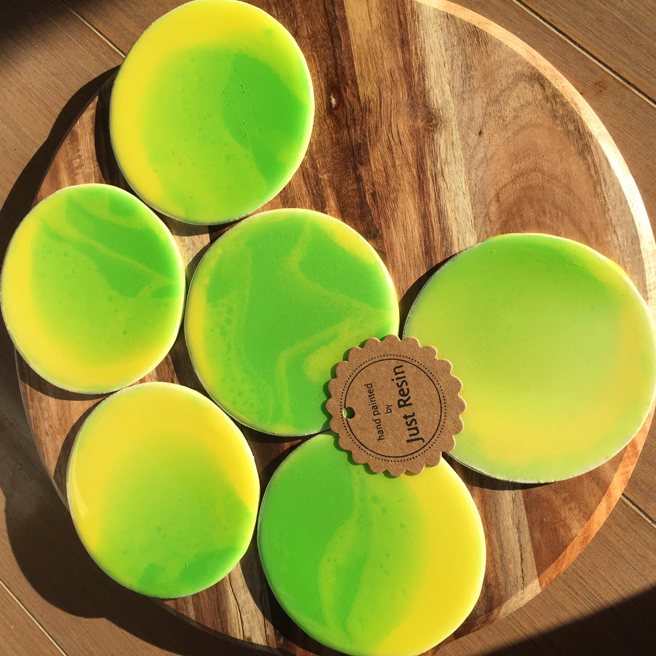 Lemon & Lime Coasters - Resin Art