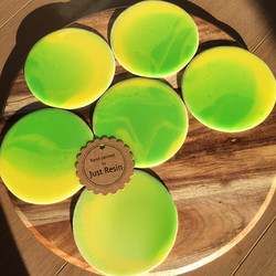 Lemon & Lime Coasters - Resin Art