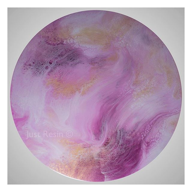 Blush - Resin Art, Round
