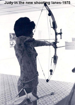Judy Using the New Archery Shooting Lanes in 1975