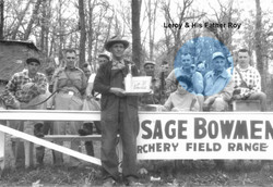 Leroy and His Father Roy at Osage Bowmen
