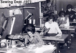 The NEET Sewing Department Working in 1973