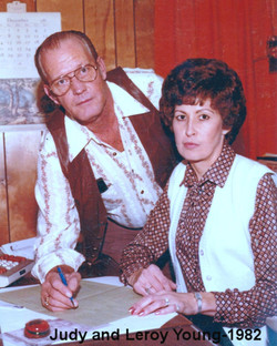 Judy and Leroy Young Working in 1982