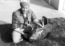 Leroy with a Buck He Got While Bow Hunting