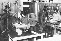 The NEET Cutting Room in 1973
