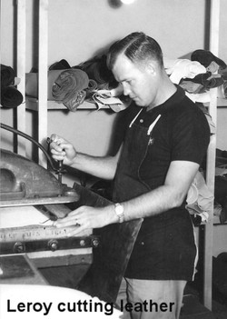 Leroy Cutting Leather for an Archery Accessory