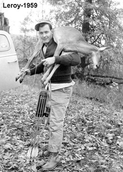 Leroy with a Deer He Harvested with His Bow in 1959