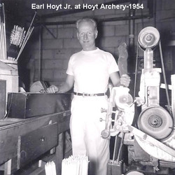 Earl Hoyt Jr. Working at Hoyt Archery in 1954